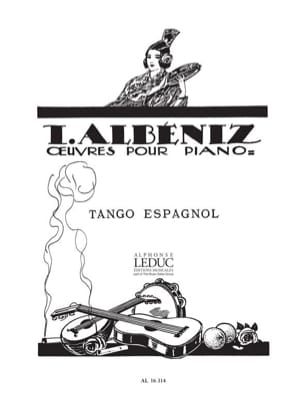 Tango Espagnol - Isaac Albeniz - Partition - Piano - laflutedepan.com