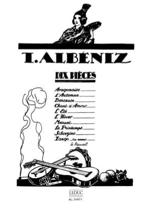 10 Pièces - Isaac Albeniz - Partition - Piano - laflutedepan.com