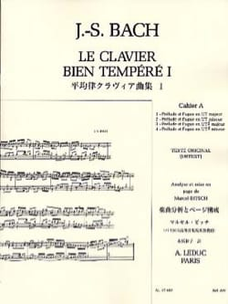 BACH / BITSCH - The Well-Tempered Keyboard - Book 1 Notebook A - Sheet Music - di-arezzo.co.uk