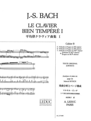 BACH / BITSCH - The Well Tempered Keyboard - Book 1 Notebook B - Sheet Music - di-arezzo.co.uk