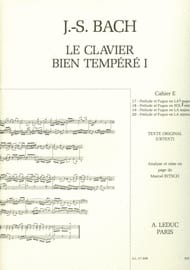 Le Clavier Bien Tempéré - Livre 1 Cahier E - laflutedepan.com