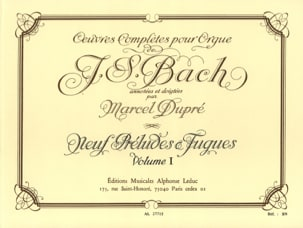 BACH / DUPRE - Complete Works For Organ Volume 1 - Sheet Music - di-arezzo.co.uk