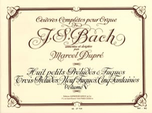 BACH / DUPRE - Complete Works For Organ Volume 5 - Sheet Music - di-arezzo.co.uk
