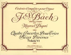 Bach Jean-Sébastien / Dupré Marcel - Oeuvres Complètes Pour Orgue Volume 6 - Partition - di-arezzo.fr