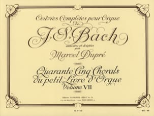 BACH / DUPRE - Complete Works For Organ Volume 7 - Sheet Music - di-arezzo.co.uk