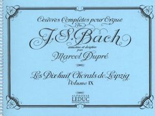 Bach Jean-Sébastien / Dupré Marcel - Oeuvres Complètes Pour Orgue Volume 9 - Partition - di-arezzo.fr