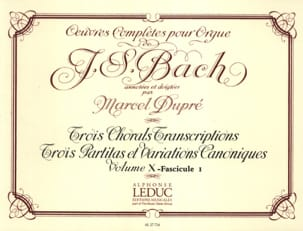 BACH / DUPRE - Complete Works For Organ Volume 10/1 - Sheet Music - di-arezzo.co.uk