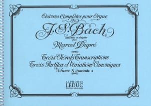 BACH / DUPRE - Complete Works For Organ Volume 10/2 - Sheet Music - di-arezzo.co.uk