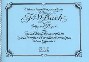 Bach Jean-Sébastien / Dupré Marcel - Oeuvres Complètes Pour Orgue Volume 10/2 - Partition - di-arezzo.fr