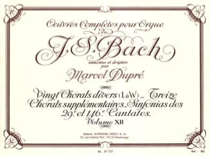Bach Jean-Sébastien / Dupré Marcel - Complete Works For Organ Volume 12 - Sheet Music - di-arezzo.co.uk