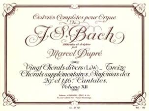 Bach Jean-Sébastien / Dupré Marcel - Oeuvres Complètes Pour Orgue Volume 12 - Partition - di-arezzo.fr