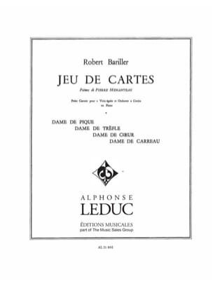 Jeux de Cartes Robert Bariller Partition Chœur - laflutedepan
