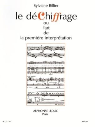 Sylvaine Billier - Decryption - Sheet Music - di-arezzo.co.uk