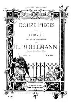 12 Pièces Opus 16 Léon Boëllmann Partition Orgue - laflutedepan