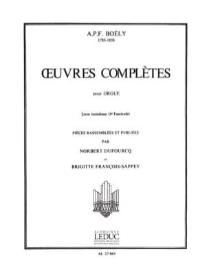 Boëly Alexandre Pierre François / Gastoué - Complete Works. Book 3 Volume 3 - Sheet Music - di-arezzo.com