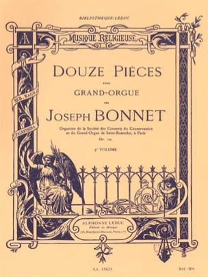 Joseph Bonnet - 12 Pièces Opus 10 - Partition - di-arezzo.fr