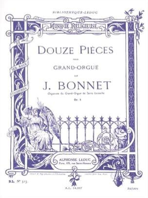 12 Pièces Opus 5 Joseph Bonnet Partition Orgue - laflutedepan