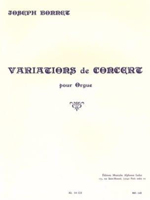 Joseph Bonnet - Opus Concert Variations 1 - Sheet Music - di-arezzo.co.uk