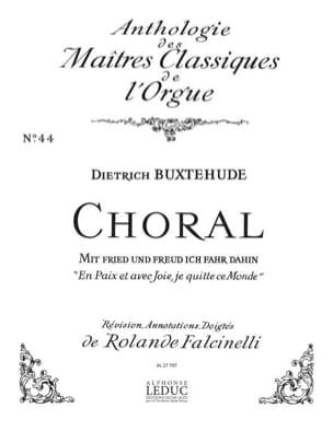 Dietrich Buxtehude - Choral : Mit fried und freud ich fahr dahin - Partition - di-arezzo.fr
