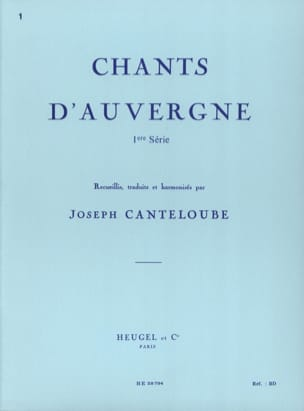 Joseph Marie Canteloube - Songs Of Auvergne Volume 1 - Sheet Music - di-arezzo.co.uk