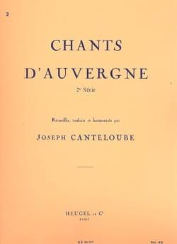 Chants D'Auvergne Volume 2 Joseph Marie Canteloube laflutedepan