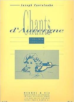 Chants D'Auvergne Volume 5 Joseph Marie Canteloube laflutedepan