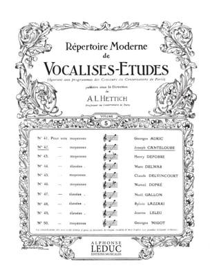 Canteloube Joseph Marie / Hettich - Vocalise Study - Sheet Music - di-arezzo.com