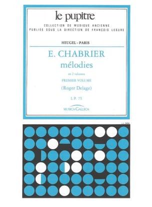 Mélodies. Volume 1 Chabrier Emmanuel - Delage Roger laflutedepan