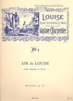Gustave Charpentier - Since the day. Louise - Sheet Music - di-arezzo.co.uk