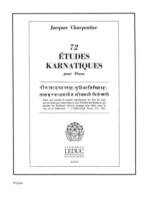 Jacques Charpentier - 72 Karnatic Studies 4th Cycle - Sheet Music - di-arezzo.co.uk