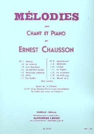 14 Mélodies. Ernest Chausson Partition Mélodies - laflutedepan