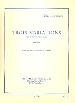 Pierre Cochereau - 3 Variations on a Chromatic Theme - Sheet Music - di-arezzo.co.uk