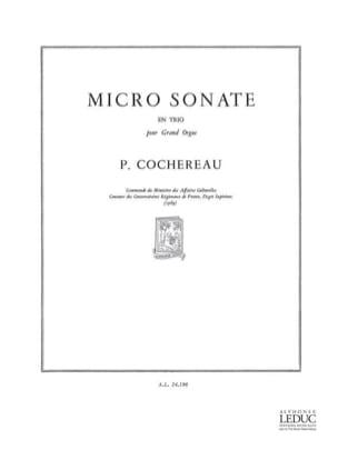 Pierre Cochereau - Micro Sonate En Trio Op. 11 - Partition - di-arezzo.fr