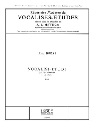 Paul Dukas - Vocalise Etudes N ° 14 - Sheet Music - di-arezzo.com