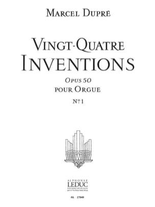 24 Inventions Opus 50 Volume 1 - Marcel Dupré - laflutedepan.com