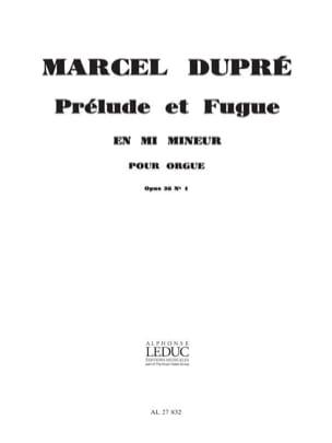 Marcel Dupré - Prélude et Fugue en Mi mineur - Partition - di-arezzo.fr