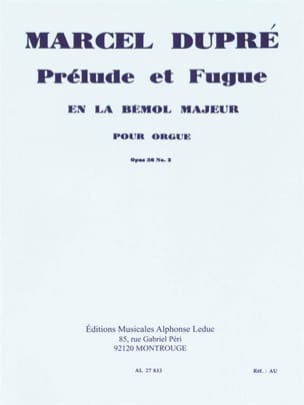 Marcel Dupré - Prelude and Fugue Opus 36-2 - Sheet Music - di-arezzo.com