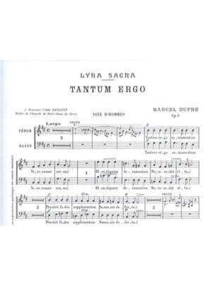 Tantum Ergo Op. 9-3. Voix Hommes DUPRÉ Partition Chœur - laflutedepan