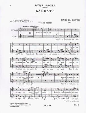 Laudate Opus 9-4. Voix Femmes - Marcel Dupré - laflutedepan.com