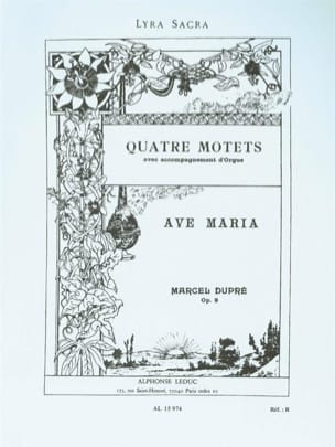 Marcel Dupré - Ave Maria Opus 9-2 - Partition - di-arezzo.fr