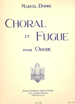 Choral et Fugue Opus 57 DUPRÉ Partition Orgue - laflutedepan