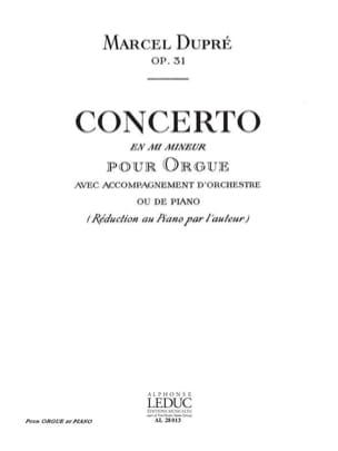 Marcel Dupré - Concerto En Mi Mineur Op. 31 - Partition - di-arezzo.fr