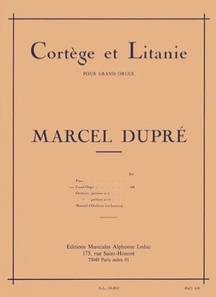 Marcel Dupré - Procession and Litany Opus 19-2 - Sheet Music - di-arezzo.co.uk