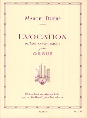 Marcel Dupré - Evocation Opus 37 - Partition - di-arezzo.fr