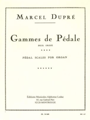 Marcel Dupré - Pedal Ranges - Sheet Music - di-arezzo.co.uk