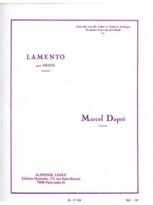 Marcel Dupré - Lamento Opus 24 - Partition - di-arezzo.fr