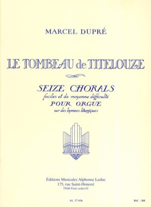 Marcel Dupré - The Tomb of Titelouze Opus 38 - Sheet Music - di-arezzo.com