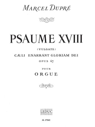 Psaume 18 Op. 47 DUPRÉ Partition Orgue - laflutedepan