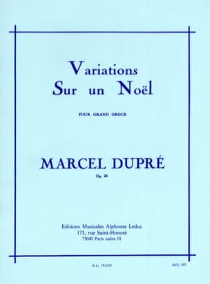 Marcel Dupré - Variations on a Christmas Opus 20 - Sheet Music - di-arezzo.co.uk