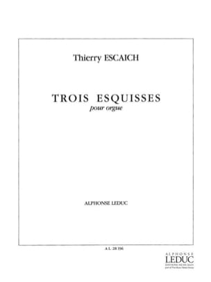 Thierry Escaich - 3 Esquisses - Partition - di-arezzo.fr